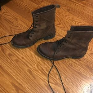 Name Brand Leather Combat Boots